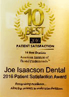 10 Best patient saftisfaction award logo