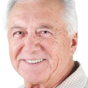 Smiling man with dentures
