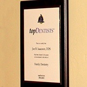 Top Dentists Award certificate