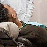 Relaxing patient in dental chair